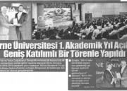 Girne Üniversitesi 1. Akademik YIlı , YDÜ'de Düzenlenen Törenle Başladı