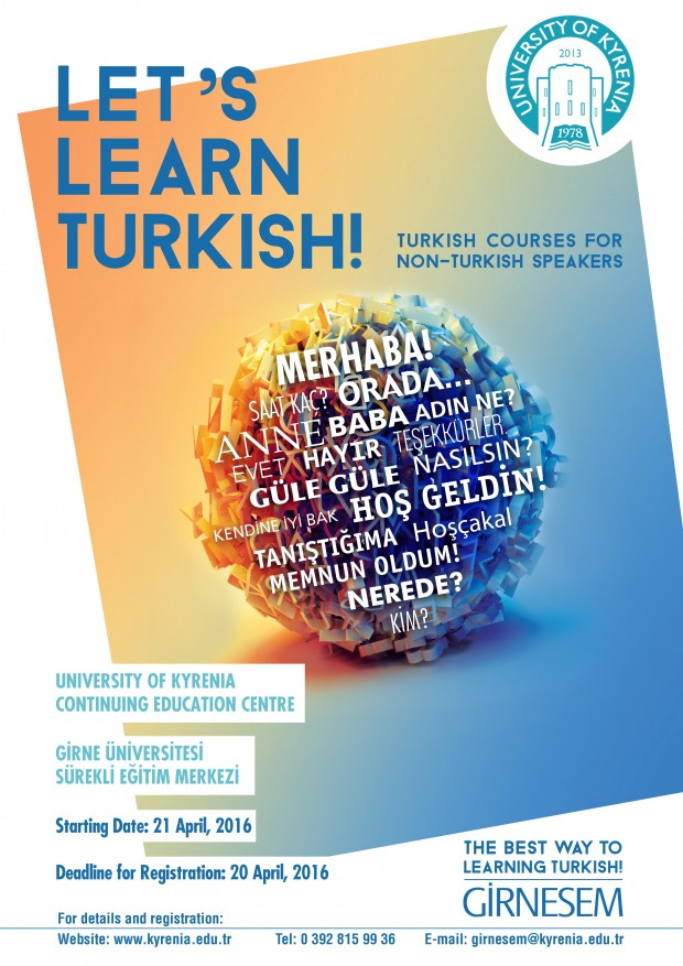 Continuing Education Centre of University of Kyrenia will be