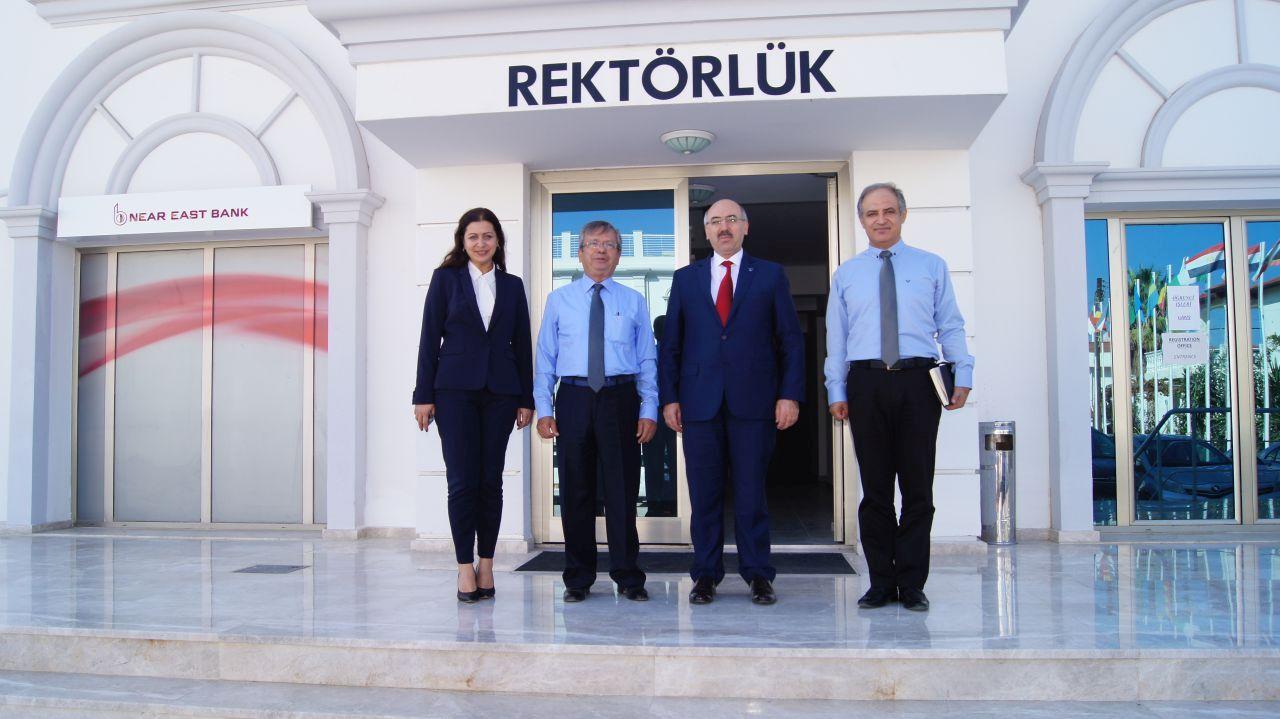 İstanbul Üniversitesi Rektörü Prof. Dr. Mahmut AK, 15 Kasım'da Açılacak Olan Dr. Suat GÜNSEL Girne Üniversitesi Hastanesini Gezdi