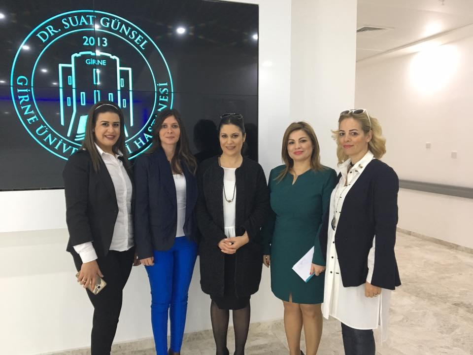 İş Kadınları Derneği  Yönetim Kurulu Üyeleri Dr. Suat Günsel Girne Üniversitesi Hastanesi'ne  Ziyarette Bulundu