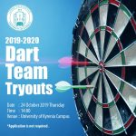 2019 – 2020 Dart Team Tryouts