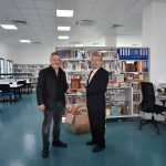"""Director of Derat Architecs Mustafa Derat donated 500 books as a gift to the Grand Library"""